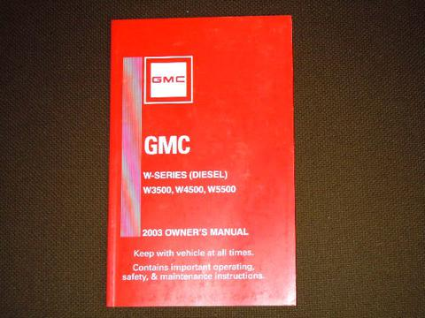 gmc owners manual cover